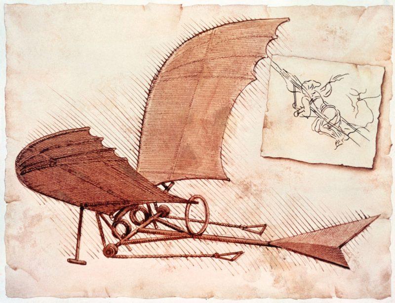 Летающий аппарат - Леонардо да Винчи