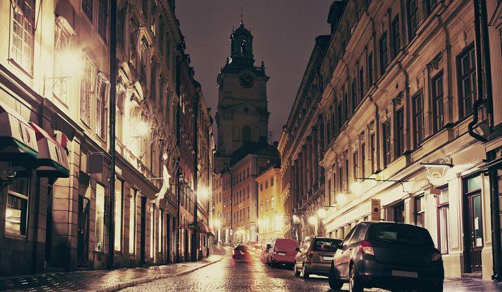 Вид кафедрального собора в Гамла Стане, Стокгольм.