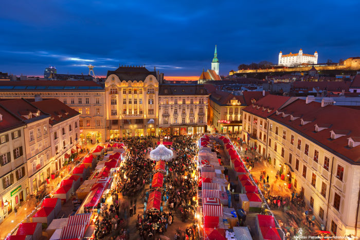 Рождественский базар в Братиславе.